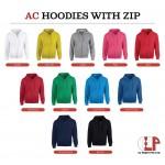 El Print Hoodie With Zip