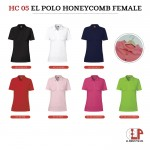 El Print Honeycomb Polo (Female)