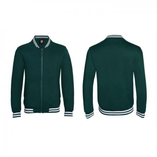 El Print Varsity Jacket With Zip