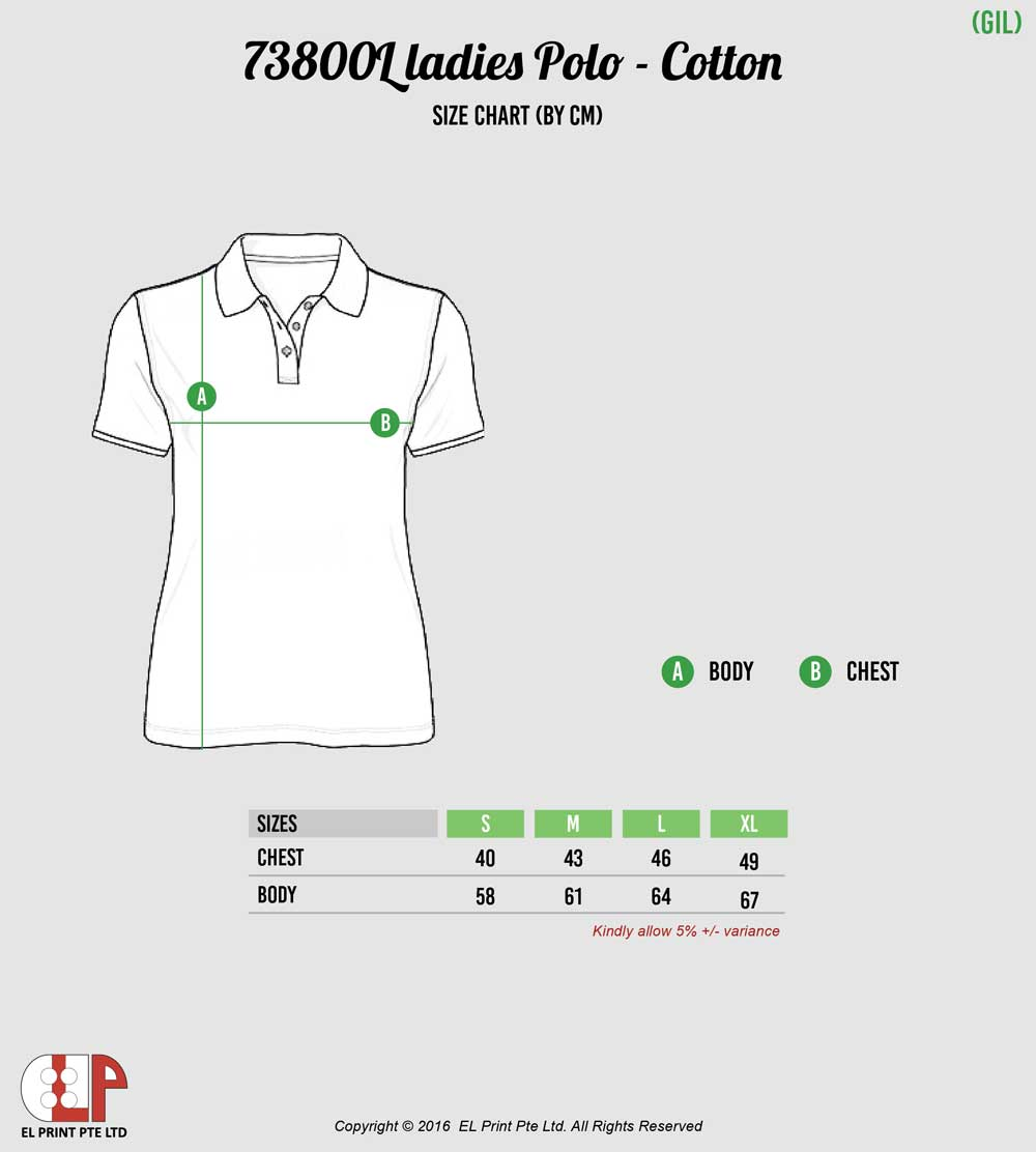 Gildan polo t shirt ladies for Gildan brand t shirt size chart