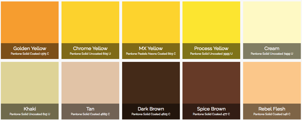how to create a colour code from pantones